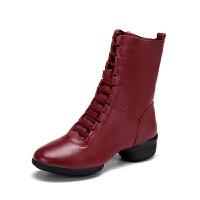 秋冬新款水兵舞鞋中跟软底舞蹈鞋女跳舞鞋广场舞鞋爵士舞靴子