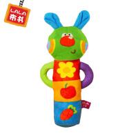 LALABABY/拉拉布书 宝宝布玩 益智玩具 内置BB器 摇动可响 小兔摇棒