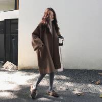 冬季呢子大衣女2018新款韩版中长款秋冬季森系仿羊绒赫本风毛呢外套