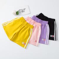 女童夏季运动短裤外穿薄款儿童夏天裤子女大童休闲热裤黑宽松