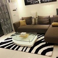 加密韩国丝亮丝地毯客厅茶几2米*3米卧室地毯可满铺