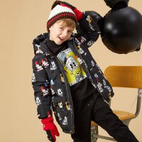 【美邦超品 9.21日全场1件3折 到手价:116.7】美特斯邦威旗下Moomoo童装男童迪士尼卡通印花连帽加厚中长款