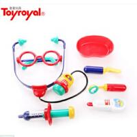 皇室Toyroyal女孩小医生玩具套装儿童过家家仿真听诊器打针医药箱