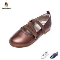 暇步士Hush Puppies童鞋18新款儿童皮鞋女童时装鞋优雅舞蹈鞋校园学生鞋 (7-12岁可选)  DP9328