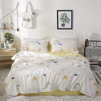 ???床单单件学生宿舍三件套床上用品1.2米1.5m被单单人少女生四件套