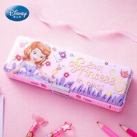 迪士尼文具盒女小学生多功能幼儿园韩创意笔袋削笔刀1-3年级笔盒铅笔盒女孩男孩儿童卡通塑料笔盒