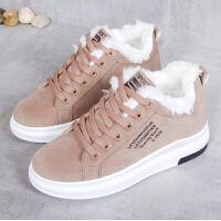 雪地靴 女士厚底加绒保暖雪地靴2020秋冬新款韩版女式加厚高帮雪地靴