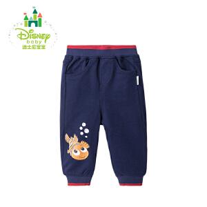 迪士尼Disney 童装男童裤子春秋宝宝运动休闲长裤171K753