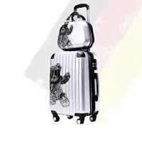 拉杆箱万向轮学生男女旅行箱子母箱行李箱202428寸s6 流光银[子母箱] 寸+20寸【扩容子母箱+旅行套件 终生保修