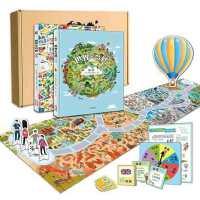 世界多奇妙 绘本城市国家全2册 赠奇妙岛桌游玩具