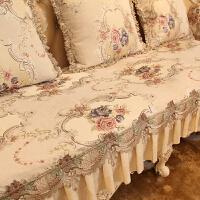 欧式沙发垫布艺奢华防滑四季通用美式高档真皮沙发套罩巾坐垫定做