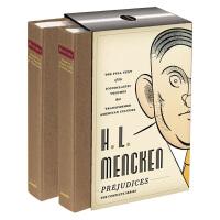 门肯故事集 英文原版 H. L. Mencken Prejudices 偏见集 美国文库系列 精装收藏 英文版 进口原