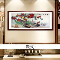 牡丹国画国色天香水墨装饰画客厅餐厅传统复古配画花开富贵花鸟画
