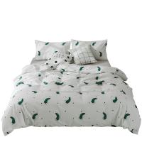 夏上新水洗棉全棉卡通可爱1.5米三件套 纯棉被套韩版公主风1.8m床上四件套