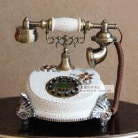 丽盛欧式复古电话机客厅有限电话仿古艺术创意座机家用电话机摆件