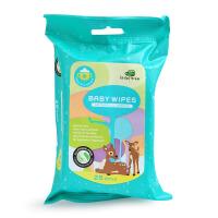英国小树苗婴儿湿纸巾新生儿手口专用湿巾宝宝柔湿巾25抽*8包便携