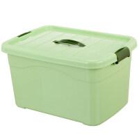 加厚塑料收纳盒透明有盖收纳箱大中小号食品玩具储物箱整理箱