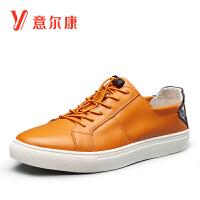 【限时价135.2】意尔康男鞋休闲皮鞋男士单鞋