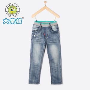 大黄蜂童装 男童牛仔裤 儿童裤子2018新款夏季韩版潮流中大童长裤