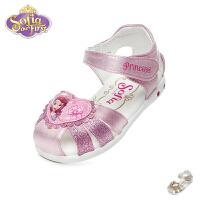 迪士尼Disney童鞋2018新款婴幼童学步鞋甜美公主鞋闪灯婴童凉鞋宝宝鞋 (0-4岁可选) FS0450