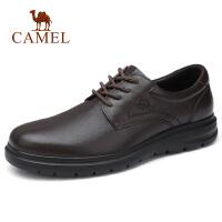 camel骆驼男鞋 新款商务系带休闲皮鞋轻便办公鞋国民男鞋爸爸鞋