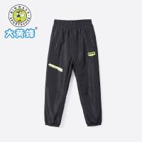 大黄蜂童装 男童运动裤 儿童加绒保暖针织裤2019冬季新款男孩裤子