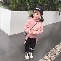2018新款女宝宝冬装加绒加厚小童套装女童秋冬季洋气儿童两件套潮巴拉