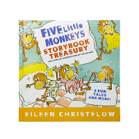 英文原版绘本Five Little Monkeys Storybook Treasury五只小猴子精装合集,含5个故事