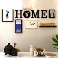 简约现代挂墙相框组合创意个性鹿头相片墙北欧照片墙客厅走廊装饰