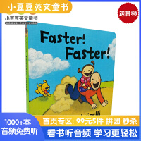 #进口英文原版绘本 Faster! Faster! 再快一点!一根毛小毛孩小脏孩系列 知名作家Leslie Patric