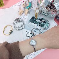 日系迷你简约手镯式手表女复古圆形百搭学生休闲少女小巧气质腕表