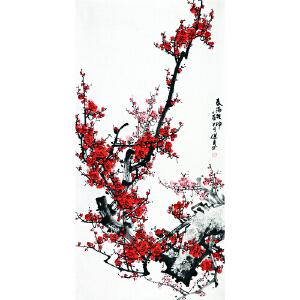 王进东《春满乾坤》著名梅花画家 有作者本人授权