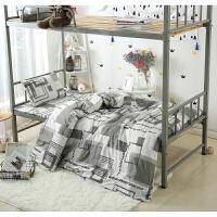 纯棉三件套学生宿舍上下铺0.9米全棉单人床笠式3套件1.2床上用品