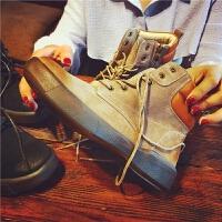 欧洲站秋季新款真皮短靴女鞋英伦风马丁靴软底舒适单靴平跟女靴潮