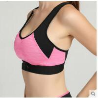 时尚背心文胸拼接心率监测运动文胸女减肥跑步马拉松专业防震内衣
