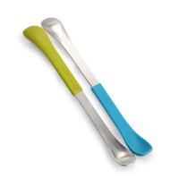 美国Boon双头勺婴儿辅食勺子软头勺儿童宝宝不锈钢硅胶两头勺两用