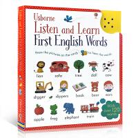 【顺丰包邮】英语单词听与学 英文原版 Listen and Learn First English Words儿童按压发声书 幼儿单词启蒙 点读书触摸发声独立阅读 词汇积累3-6岁 usborne出品