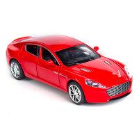 阿斯顿马丁开门六处可开加长合金跑车模型声光回力儿童玩具车