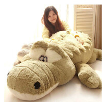 可爱超大号趴款鳄鱼毛绒玩具公仔布娃娃坐垫地垫玩偶礼物