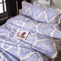 韩版磨毛澳绒纯棉床上用品四件套 韩式公主被罩床单 冬季新年床品