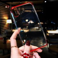 简约苹果x手机壳超薄透明7plus硅胶软iPhone8挂绳女款6s韩国潮牌