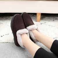 棉鞋 女士加绒加厚保暖软底窝窝鞋2019冬季女式休闲平跟防滑居家鞋子