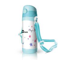 儿童保温水杯婴儿吸管杯男女学生背带水壶幼儿园学饮杯a217