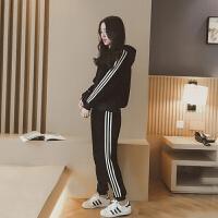 秋冬装新款韩版运动服套装女加绒加厚卫衣休闲两件套潮