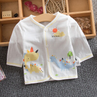 夏季新生儿纯棉上衣内衣夏天婴儿上衣儿童纯棉开胸衫空调房衣服