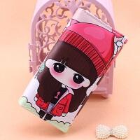彩印娃娃女孩韩版卡通零钱包长款学生时尚潮女压花大钞位卡位钱夹 娃娃6