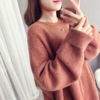 秋冬女装毛衣慵懒风套头宽松打底针织衫