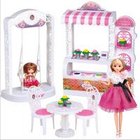 维莱 乐吉儿蛋糕花店过家家仿真洋娃娃玩具公主套装大礼盒女孩生日礼物 乐吉儿A009蛋糕花店