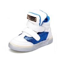 比比我童鞋 2017春秋季男童休闲高帮运动鞋 男童休闲皮鞋学生
