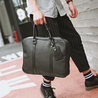 男士公文包文件手提包商务青年包 韩版新款出差手提包皮质单肩包